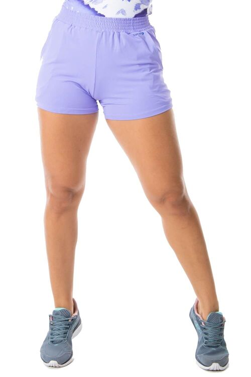 Short Fitness Running Bolsos Laterais Lilás