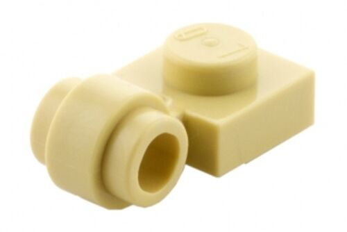 Lego Plate 1x1 com clip lateral - Bege - PN 4081 / CN 408105 / 4632573 / 4173465