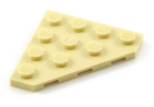 Lego Plate Wedge 4x4 45 graus - Bege - PN 30503 / CN 4569474 / 6034852