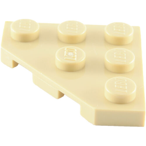 Lego Plate 3x3 c/ 3 cantos - Bege - PN 2450 / CN 245005 / 4208072