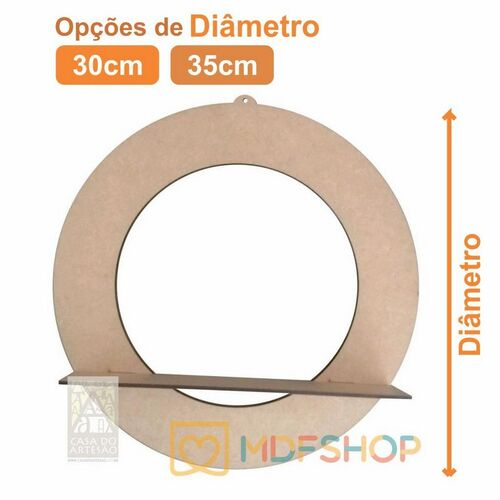 Aro 3mm - Com Base De 5cm De Largura - Guirlanda Mdf