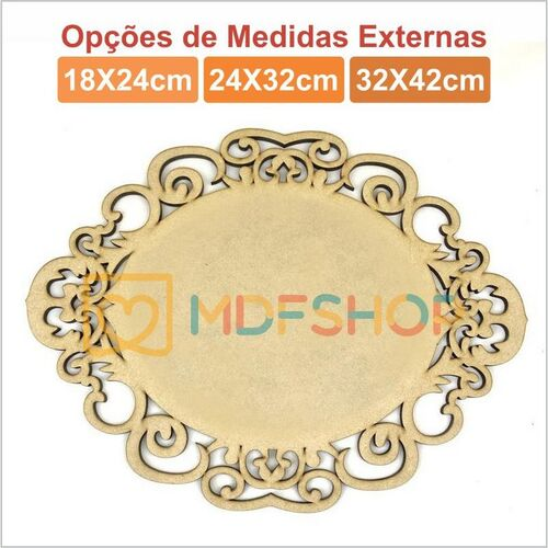 Plaquinha Oval Modelo C - 3mm