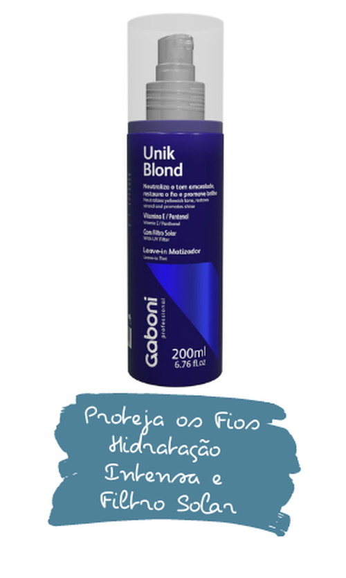 Leave-in Matizador Spray Hidratação Unikblond 200ml
