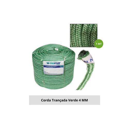 CORDA TRANCADA PET 04 MM VERDE, KG