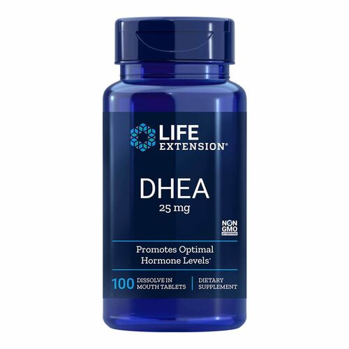 DHEA 25 mg -  Life Extension - 100 comprimidos sublinguais