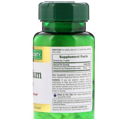 Potássio 99 mg - Nature´s Bounty - 100 Tablets