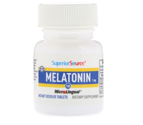 Melatonina 1 mg microlingual - Superior Source - 100 Tablets dissolução instantânea