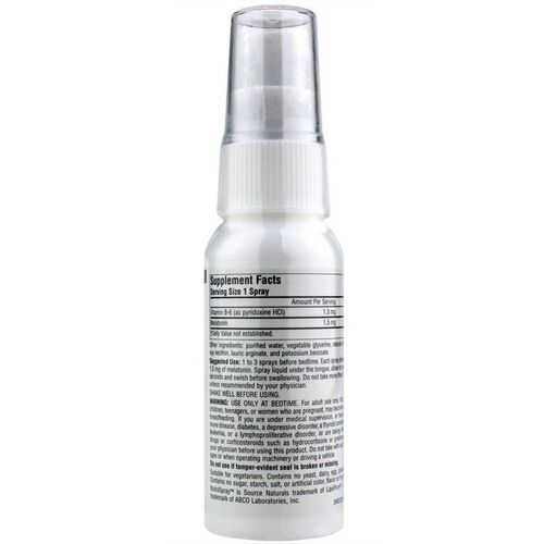 Melatonina líquida Spray 1,5 mg sabor Morango  - Source Naturals - 60 ml