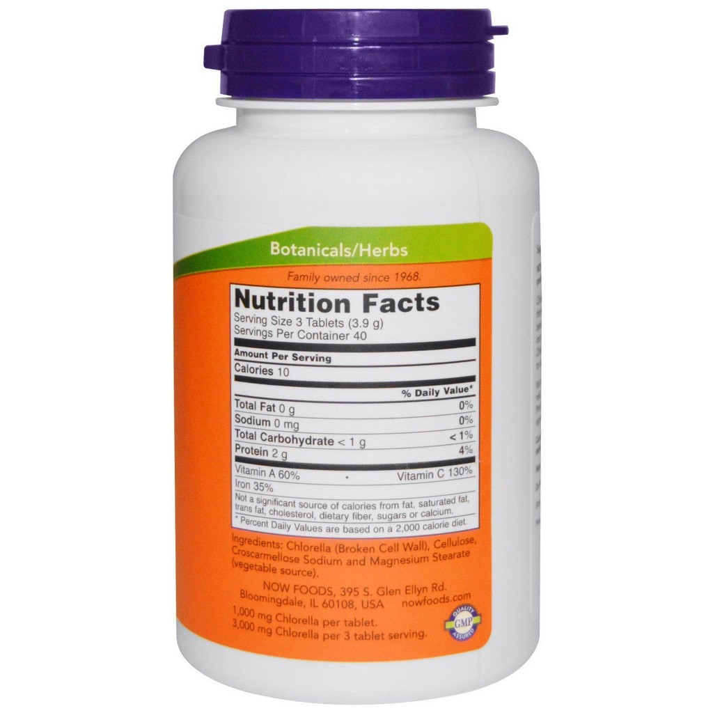 Chlorella 1000 mg -  Now Foods - 120 Tablets