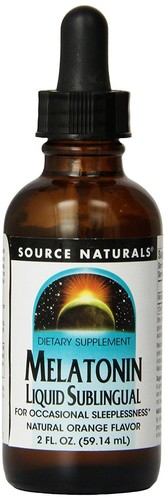 Melatonina líquida 1 mg - sabor laranja - Source Naturals - 59 ml
