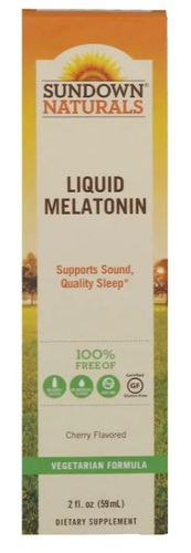 Melatonina líquida 1 mg  - Sundown Natural's - 59 ml (hormônio do sono)