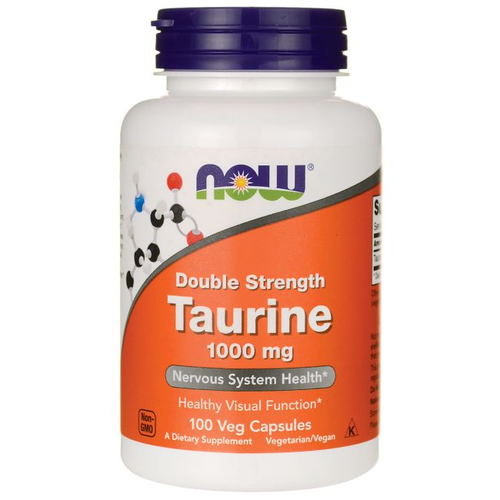 Taurina 1000 mg - Now Foods - 100 cápsulas
