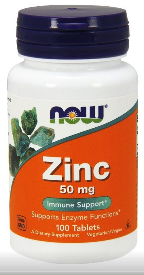 Zinco 50 mg - Now Foods - 100 tablets