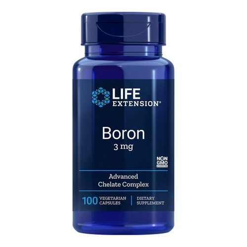 2 x Boro 3 mg - Life Exension - Total 200 Cápsulas