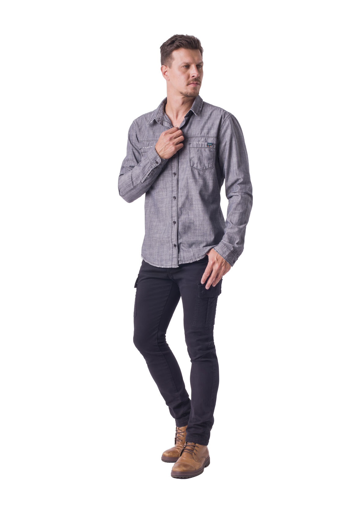Camisa Masculina Jeans Dopping