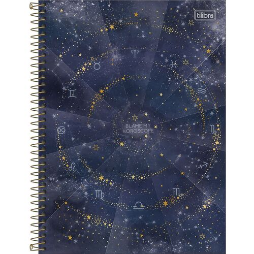 Caderno Universitario 1 Materia Tilibra Magic Blame My Horoscope