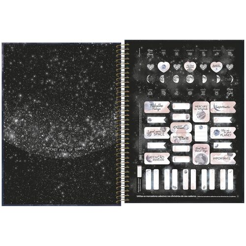 Caderno Universitário 1 Materia Tilibra Magic My Dear Universe