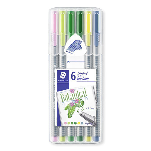Caneta Staedtler Triplus Fineliner Botanical Colors 6 cores