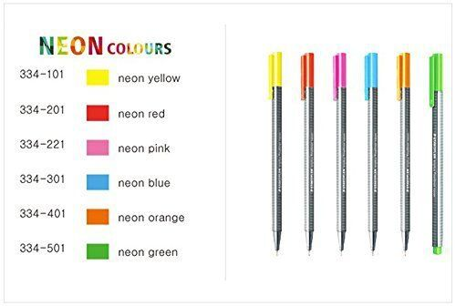 Caneta Staedtler Triplus Fineliner Neon Colors 6 cores