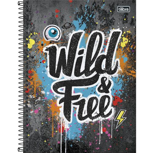 Caderno Tilibra Grafiti Universitario 1 Materia Wild and Free