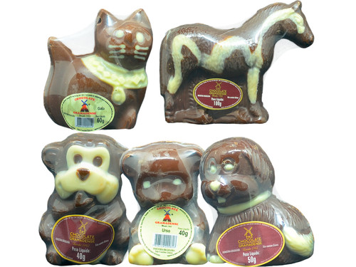 Animais de Chocolate