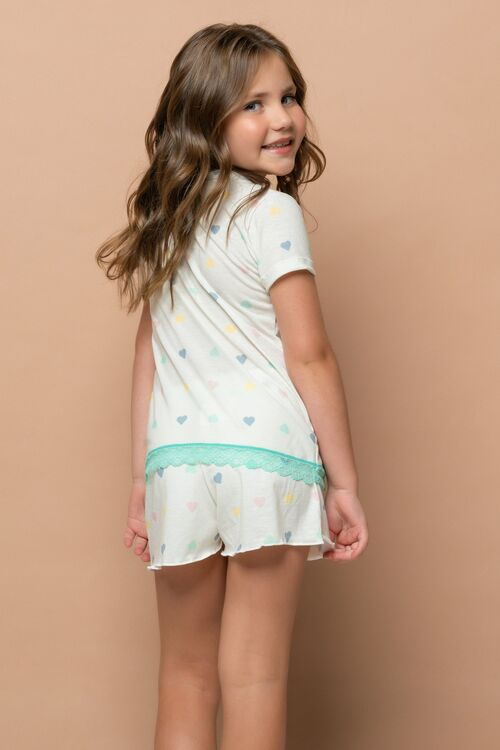 Short Doll Infantil Com Manga Curta Bellinha Off White