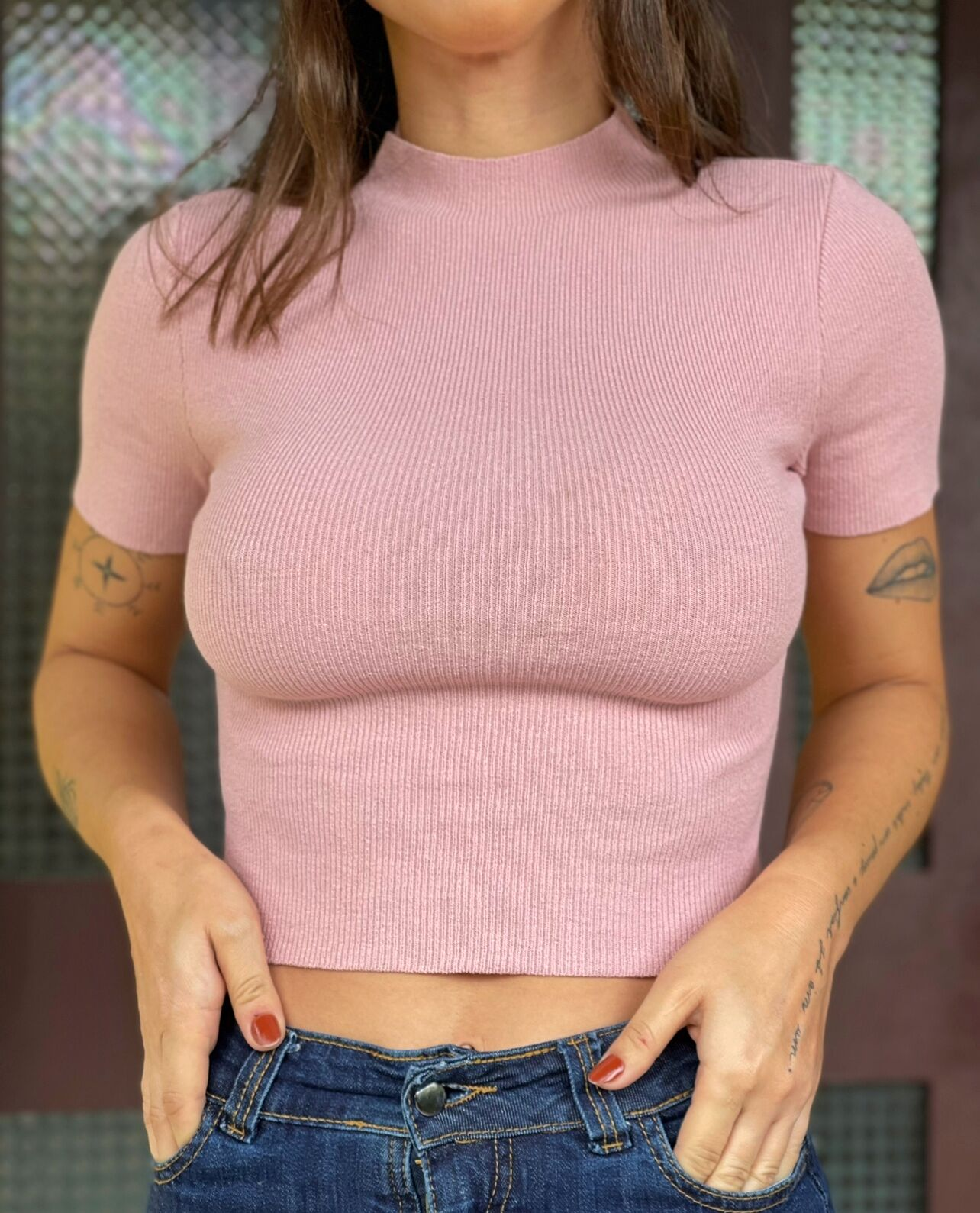 Cropped Pipe Tricot