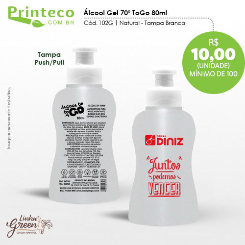 Álcool gel 70% - 80ml