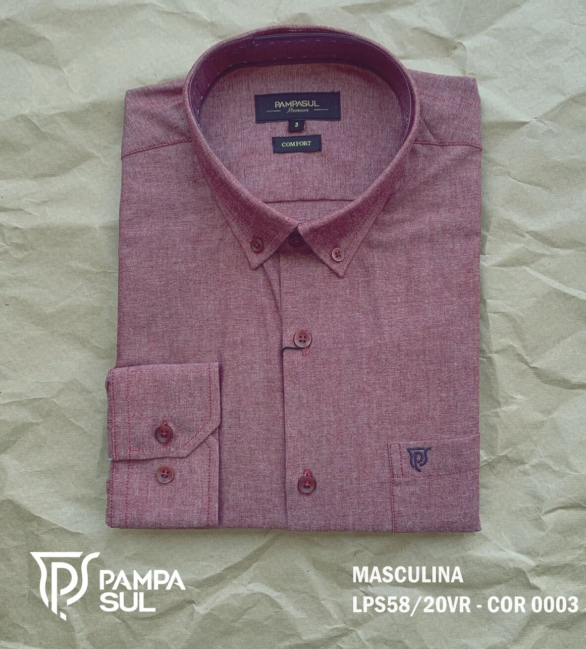 Camisa Pampa Sul Masculina Slim Confort LPS 58/20