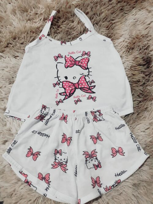 Baby doll alça hello kitty Infantil