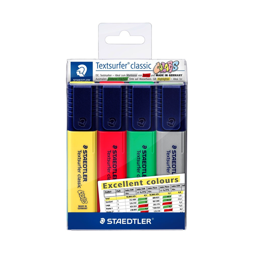 Marca Texto Staedtler Textsurfer Classic Excel 4 Cores