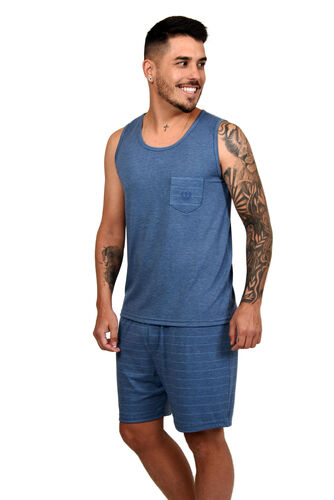 Conjunto Pijama Masculino Regata Visco Charms