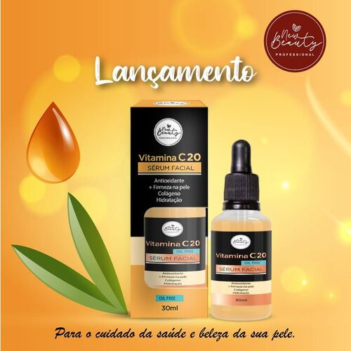 New Beauty Vitamina C 20 Serum Facial Oil Free 30ml