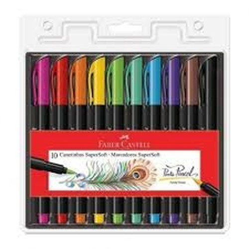 Canetinha Supersoft brush 10 cores Faber-Castell