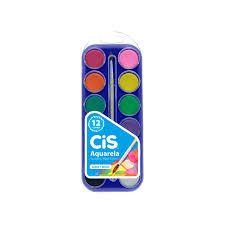 Aquarela 12 cores Cis