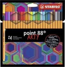 Caneta Stabilo Point 88 Arty estojo 24 cores 0.4mm 8824/1-20