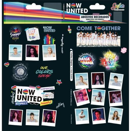 Adesivo Decorado Duplo Now United Tilibra