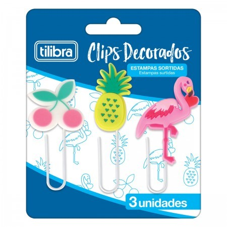 Clips Decorados 50mm Tilibra