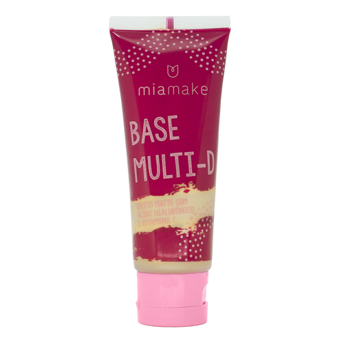Base Multi-D com Ácido Hialurônico e Vitamina C - Mia Make