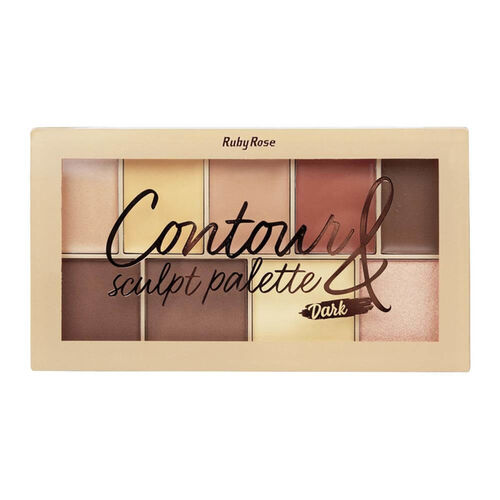 Paleta de Contorno Sculpt Dark HB-7517 - Ruby Rose